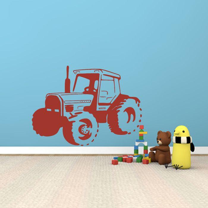 Wandtattoo Traktor Trekker Landwirtschaft Kinderzimmer Wallart Land Maschine Acker Wandaufkleber Aufkleber Wa 032 Wandtattoo Kinderteppiche Und Wandtattoos