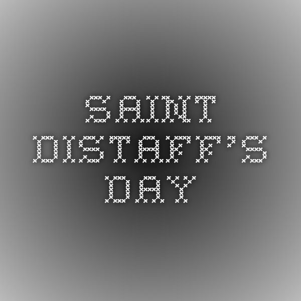 Saint Distaff's Day