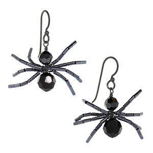 Spidey Earrings | Fusion Beads Inspiration Gallery                       Fun halloween jewelry idea!