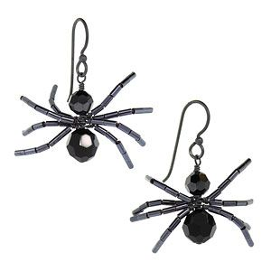 Spidey Earrings | Fusion Beads Inspiration Gallery                       Fun halloween jewelry idea!