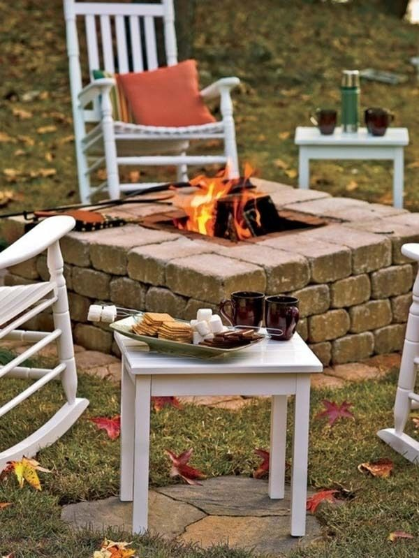 8.) Build a fire pit in the back yard.