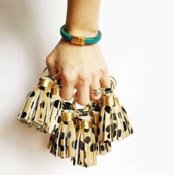 Mini Cheetah Print Tassel Keychain by The Providence Story