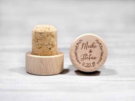 Personalized Wedding Favors Engraved Wine Stopper W0304STLV Wedding Wine Stopper Gift
