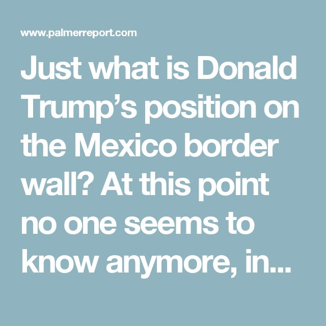 Just what is Donald Trump's position on the Mexico border wall? At this point no one seems to know anymore, including Trump himself. Yesterday it was revealed that Trump would no longer be asking Mexico to pay for it, and would instead be asking Congress to authorize United States taxpayer money to pay for it. Trump was then quick to flip flop from his own flip flop – and now his old Mexican nemesis Vicente Fox is aggressively firing back.