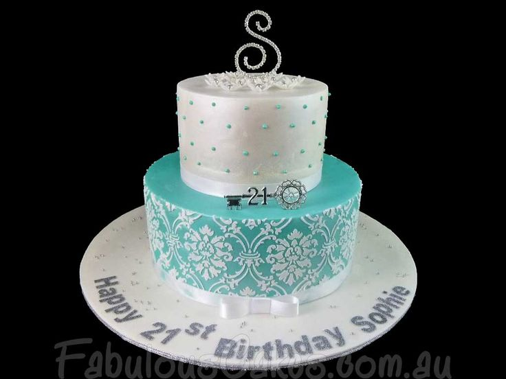 Best St Birthday Cake Inspiration Images On Pinterest - Latest 21st birthday cakes