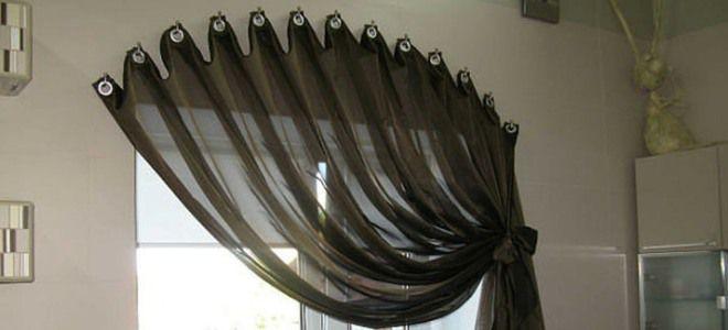 как повесить шторы без карниза 0