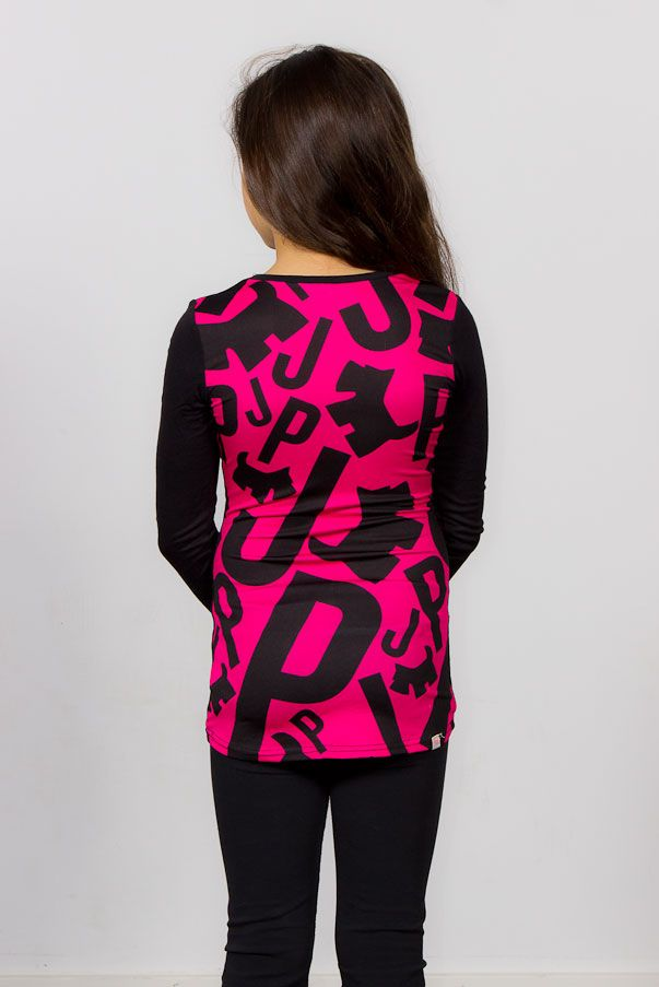 colorful JP Fashion Top, hot pink and black