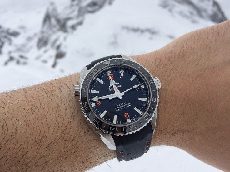Luxury Dive Watch On Rubber Strap: Omega Seamaster Planet Ocean GMT
