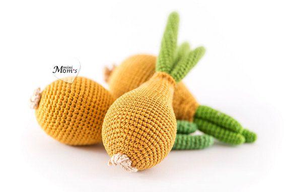 1 Pcs  Crochet onion teether teeth play food kitchen от MiniMoms