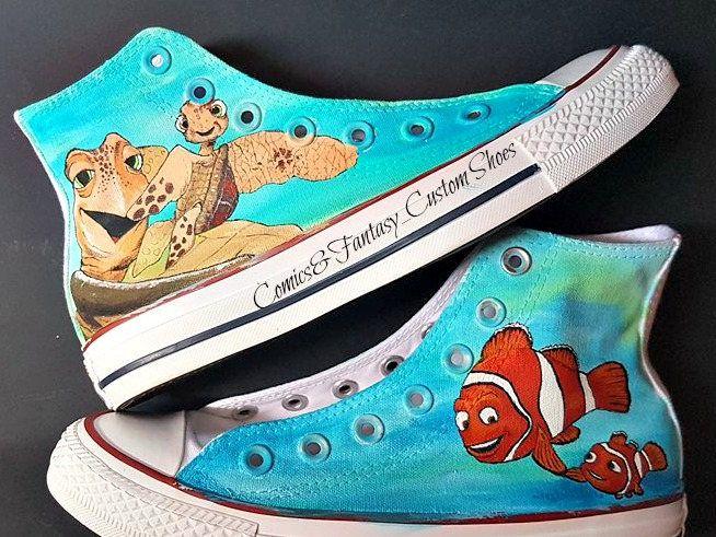 Alla ricerca di Nemo - Scarpe Personalizzate di ComicsFantasyShoes su Etsy