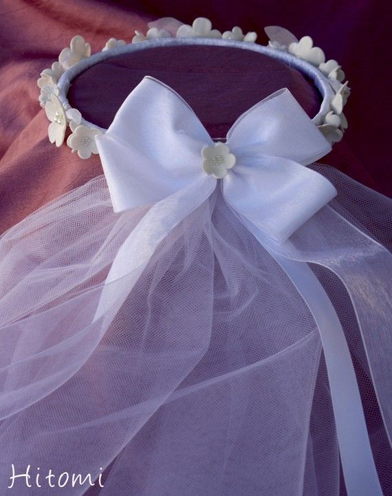 First Communion Headpiece Wreath with veil by ...
