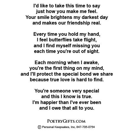Special love poems for him romantic love poem for your for Cute things to give your boyfriend just because