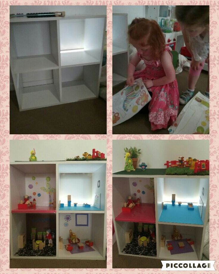 Upcycle and recycle a cube shelf into a dolls house