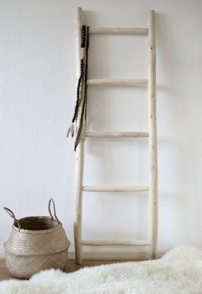 Ladder naturel heel mooi ter decoratie of als 39 dressboy 39 in je slaapkamer moodadventures - Decoratie voor slaapkamer ...
