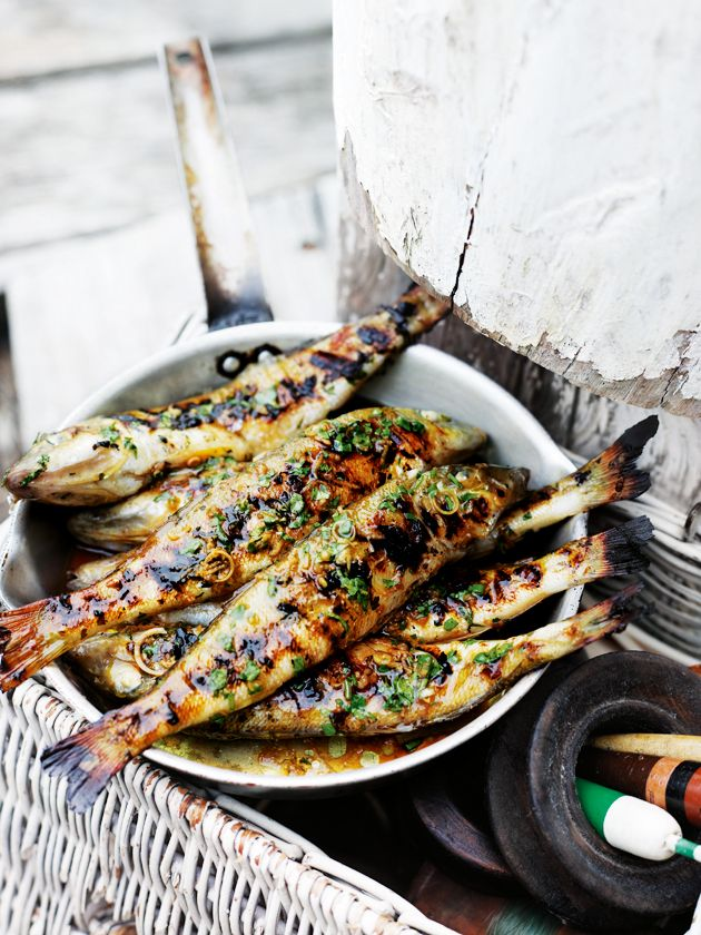 Donna Hay ginger and coriander marinated fish