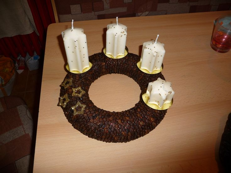 Advent wreath...for cofee lovers