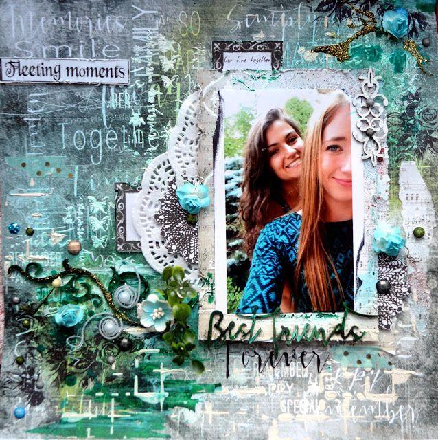 BEST FRIENDS FOREVER by Agnieszka Bellaidea http://bellaideascrapology.blogspot.com/2016/01/best-friends-forever-with-13arts.html