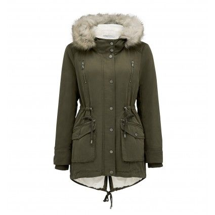 ForeverNew Simone Faux Fur Hooded Parka Main Image