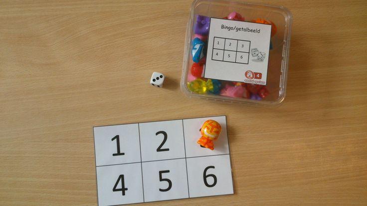bingo met getalbeelden en cijfers
