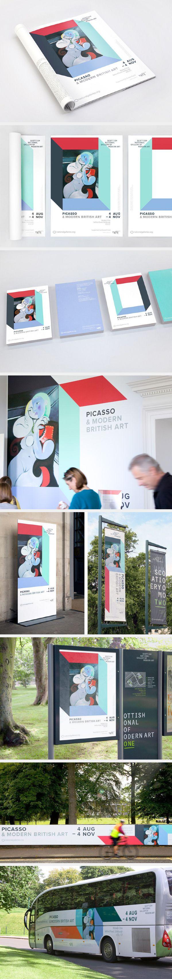 Picasso & Modern British Art by Greig Anderson, via Behance