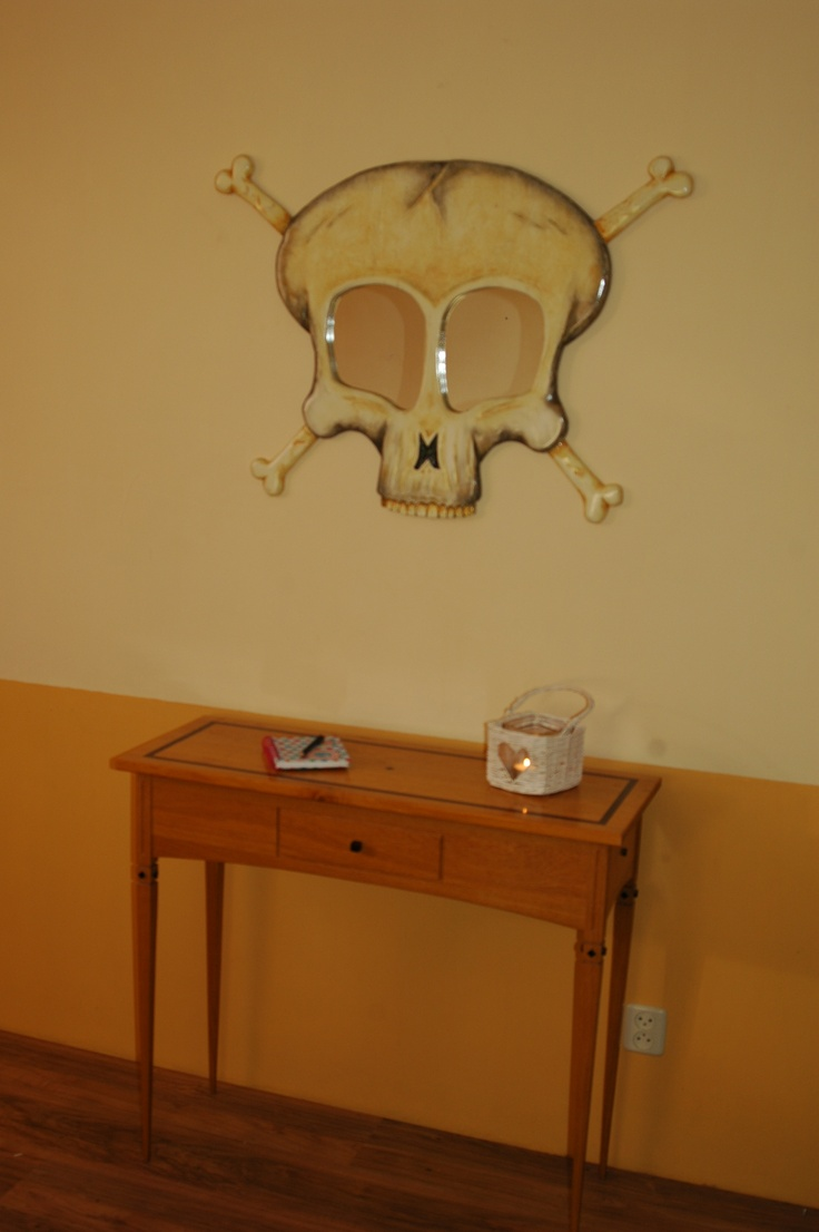 Sculptural Wall Mirror in the shape of a human Skull, ideal for the home or special gift for that Special Person.