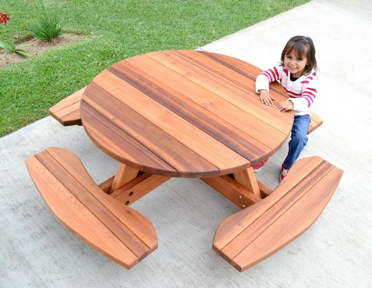 kidu0027s round picnic table forever redwood keep dreaming colleen but seriously most