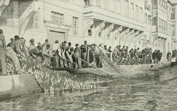 1890 (Osmanlı Dönemi İstanbul, Emirgan'da Balık