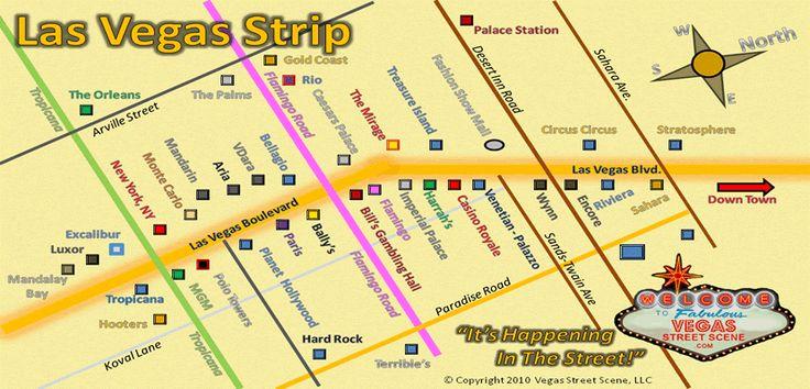 las vegas strip map vegasstreetscene official vegas street