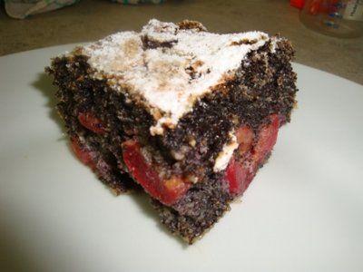 Makovo - čerešňový koláč