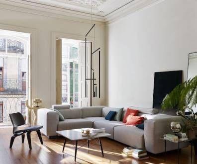 Die besten 25+ Eames sofa Ideen auf Pinterest Sofastuhl, Eames - wohnzimmer ideen schwarzes sofa