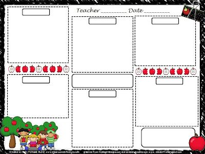 Printable File Folder Games, Other Fun Classroom Activities: free lesson plan template
