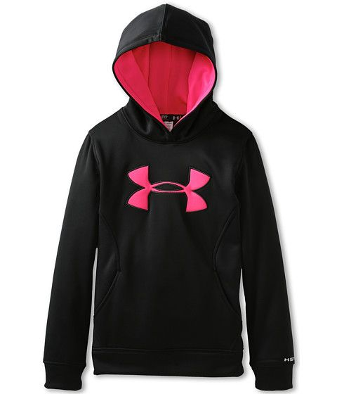 Under Armour Kids Girls' Armour® Fleece Storm Big Logo Hoodie (Big Kids)