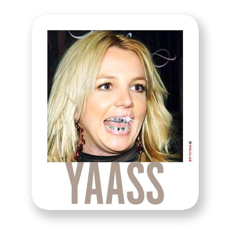When yr happy as Britney with grillz. Now in #YesNoOk Pack. Download #app in profile. Send to friends on #chat. #yaasss #yaas #yes #yesplease #britney #britneyspears #music #pop #whitepeople #blonde #grillz #hitmebabyonemoretime #wednesday #humpday #lol #lolz #comedy #funny #emoji #meme #memes #keyboard #digitalsticker #message #imessage #whatsapp #mojilab