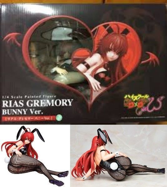 Used High School DxD Rias Gremory Bunny Ver. 1/4 Scale PVC Figure Japan 542