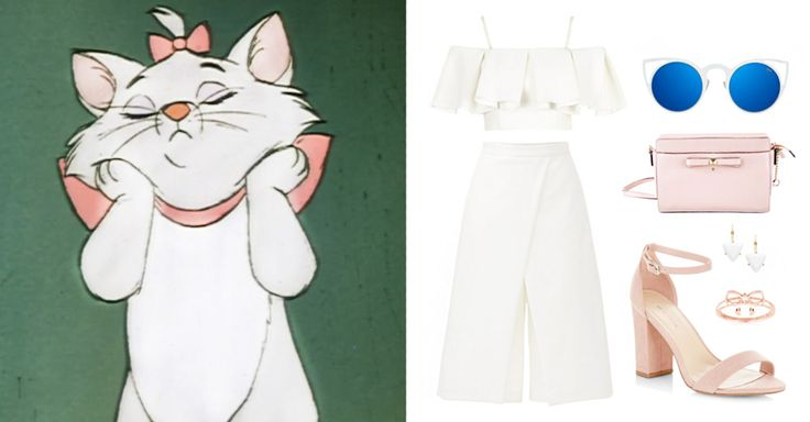 5 Disney-Inspired Outfits for International Cat Day | Marie from The Aristocats | cat sunglasses + feminine, girly outfit | [ http://di.sn/6002BF8yy ]
