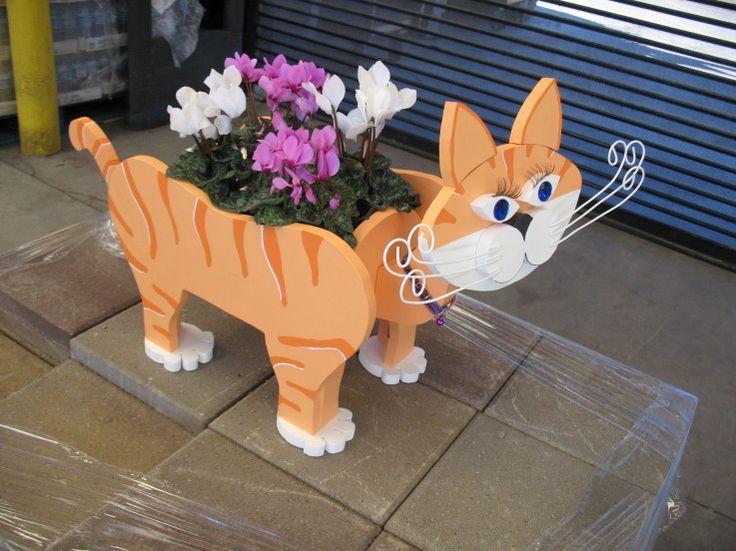 Поделка Цветочный кот.