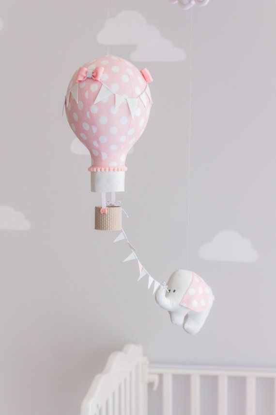 Circus Theme Baby Mobile Nursery Decor Hot Air by sunshineandvodka