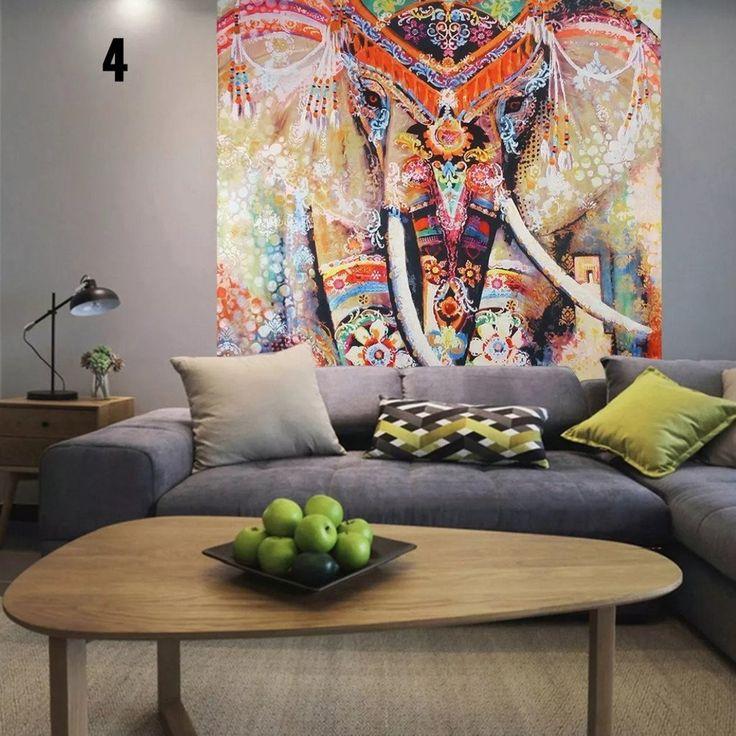 Toile Murale Mandala Eléphant (Edition limitée)