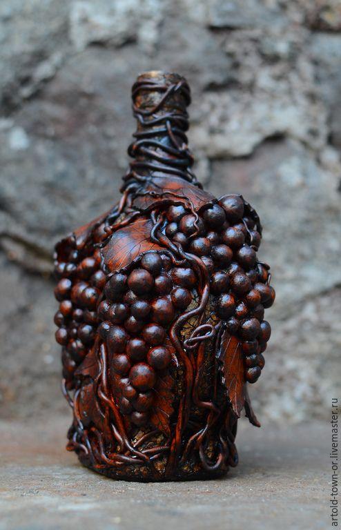 Купить Лето в винограде - коричневый, полимерная глина, декор для интерьера, Декор, подарок на любой случай