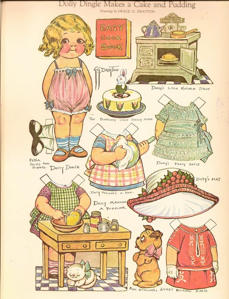 Printable Dolly Dingle Paper Doll | ... image and save to print out your own darling Dolly Dingle paperdoll