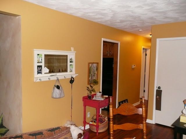Painted The Accent Wall And Hallway A Pretty Gold Quot Anjou