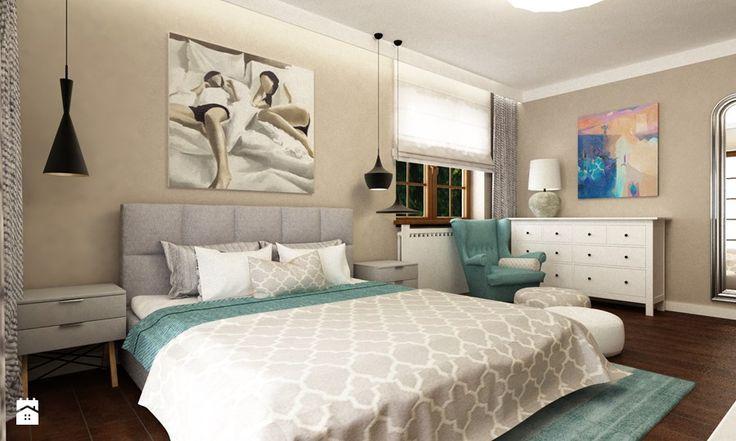 sypialnie nowoczesne - Sypialnia, styl eklektyczny - zdjęcie od Grafika i Projekt architektura wnętrz