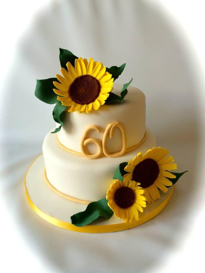 Handmade Sunflower 60th Birthday Cake By Www Facebook Com