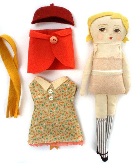 """A Tiny for A Tiny by Emily Winfield Martin.  Doll is about 6"""" tall."""