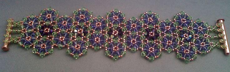 Violet Fields Cuff Bracelet by beadg1rl on DeviantArt