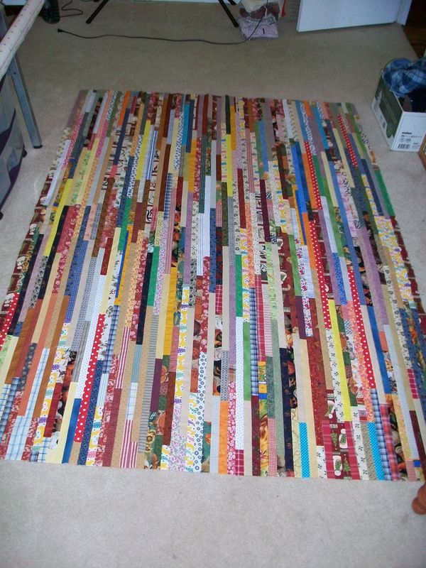 beautiful idea for strip quilting