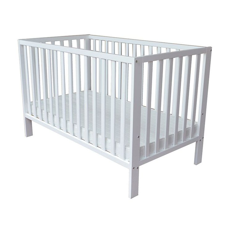 Babies R Us Finley 2-in-1 Cot - White $199 no mattress no drop side