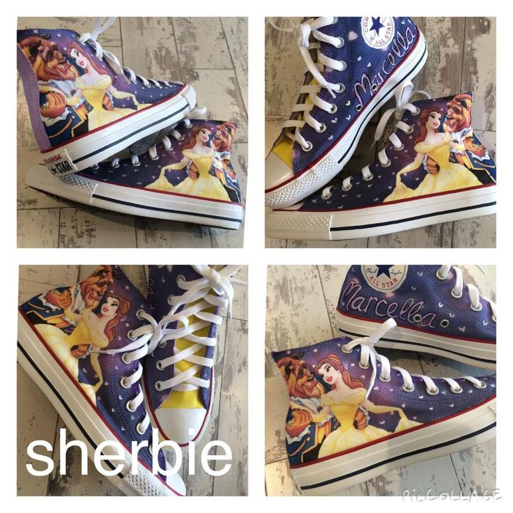 Sherbie.co.uk - Beauty and the beast converse, £55.00 (http://www.sherbie.co.uk/beauty-and-the-beast-converse/)
