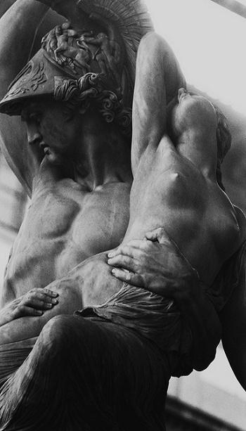 Rape of the Sabine Women. Weus i Mars w Baranie...lub Skorpionie