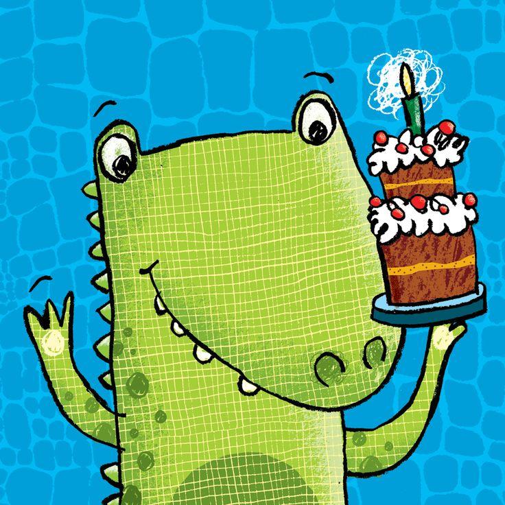 Поздравление с днем рождения от крокодила